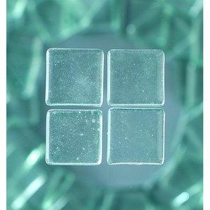 MosaixSoft - glasmosaik 20 x 20 mm - transparent 200 g ~ 41 st.