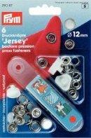 Nittryckknapp JERSEY mässing ring vit 10 mm 10 st