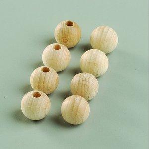 Obehandlade träbollar - med halvhål (flera valbara storlekar)