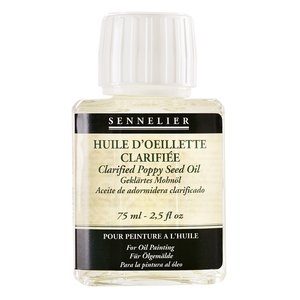 Oljemedium Sennelier - Clarified Poppy Seed Oil