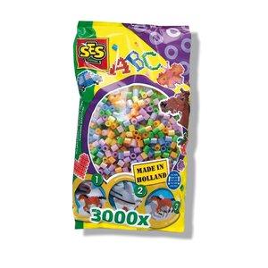 Pärlor 3000 st pastell