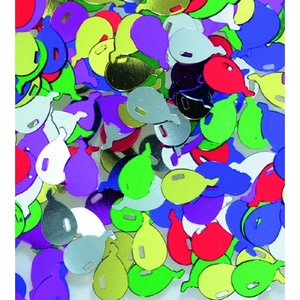 Paljetter 12 mm - blandade färger 20 g ballonger