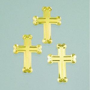 Paljetter 25 mm - guld 20 g kors