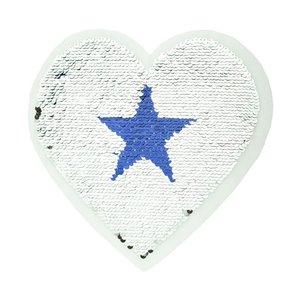 Paljettmärke Vändbart - Big Hearts Stars