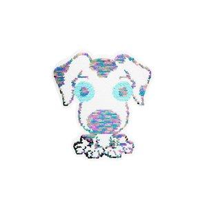 Paljettmärke Vändbart - Cute Dog