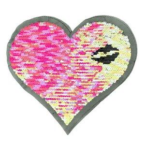 Paljettmärke Vändbart - Heart Lips