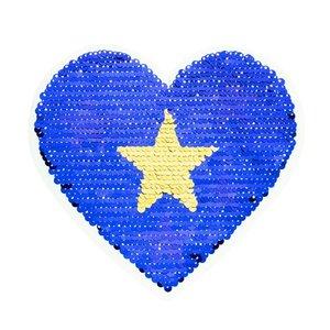 Paljettmärke Vändbart - Liitle Heart Stars