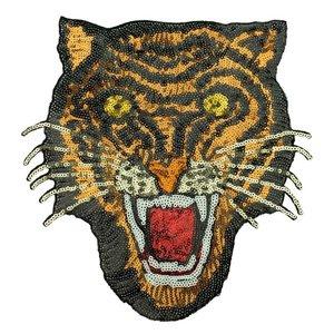 Paljettmärke Vändbart - Tiger Bronze