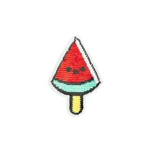 Paljettmärke Vändbart - Watermelon Popsicle