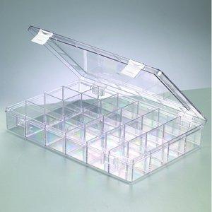 Plastbox 33 x 22 cm - klar transparent 24 sektioner