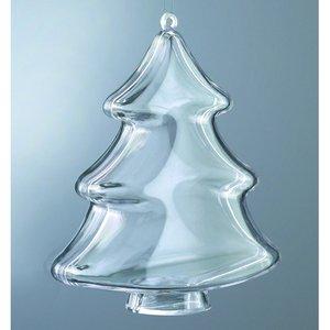 Plastform 100 mm - 20-pack - kristallklar träd (PS)