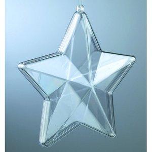 Plastform 140 mm - kristallklar stjärna