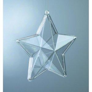 Plastform 80 mm - 20-pack - kristallklar stjärna