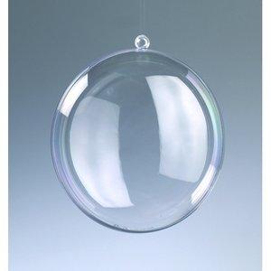 Plastmedaljong 110 mm - 20-pack - kristallklar separerbar (PS)