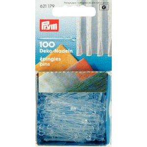 Plastnålar med krokar genomskinliga 1.00 mm 35 mm 100 st