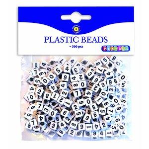 Plastpärlor Siffor - 300 st