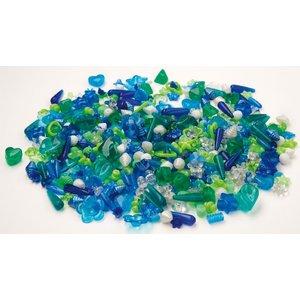 Plastpärlor blå & grön