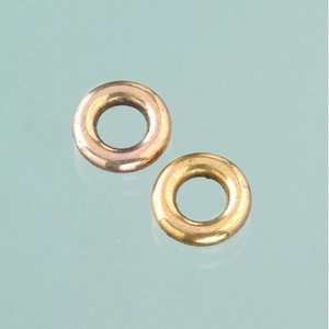 Plastringar ø 13 mm - åldrat guld 10-pack