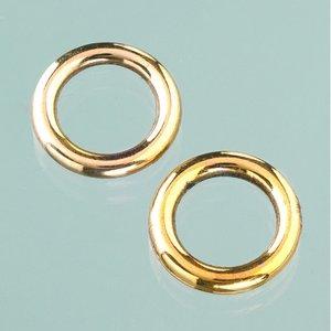 Plastringar ø 18 mm - åldrat guld 6 st.