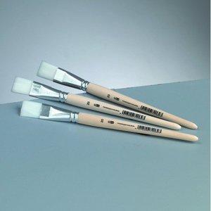 Platt pensel syntetiskt hår Gr. 16 /