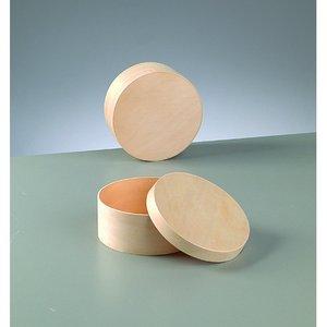 Plywoodask ø 115 mm H 50 mm - obehandlat rund