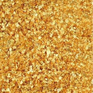 Riktiga guldflingor med ströburk - 23 karat 100 mg för att dekorera mat