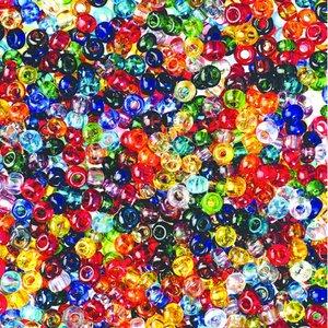Rocaillespärlor genomskinliga - blandade färger