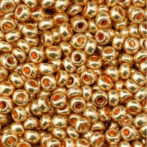 Rocaillespärlor metallic - rött guld