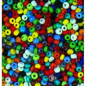 Rocaillespärlor ogenomskinliga - blandade färger