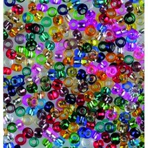 Rocaillespärlor silverlinjerade - blandade färger