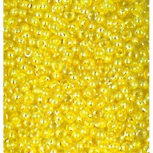 Rocaillespärlor skimrande - mjuk gul