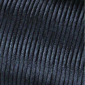 Satinsnöre 2 mm - 50 meter - svart