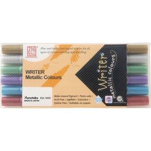 Skrivset Metallic Writer - 6 pennor