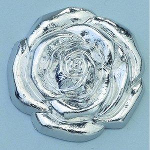 Smycke ø 20 mm - silverfärgad ros huvud