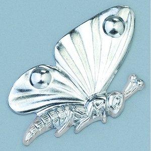 Smycke 15 x 25 mm - silverfärgad fjäril