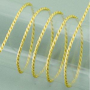 Snöre viskos 2 mm - 50 meter - guldfärgad