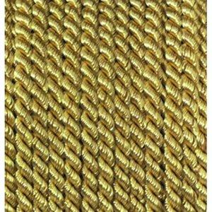 Snöre viskos 4 mm - 25 meter - guldfärgad
