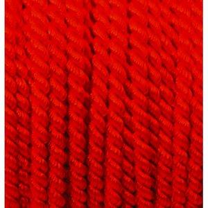 Snöre viskos 4 mm - 25 meter - röd