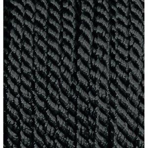 Snöre viskos 4 mm - 25 meter - svart