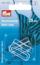 Spännen för bikini/skärp ögla stål silverfärg 25 mm