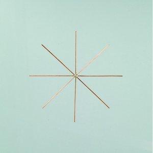 Ståltrådsstjärna för pärlor ø 10 cm x 0