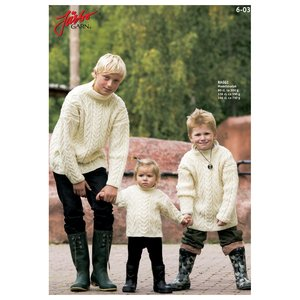 Stickmönster - Aranstickad tröja med ståkrage
