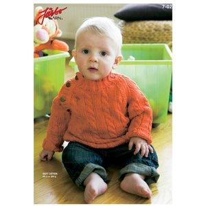 Stickmönster - Kabelstickad klassiker (baby)