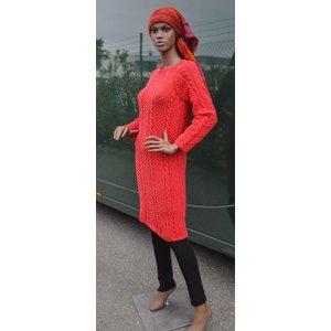 Stickmönster - Långsmal klänning