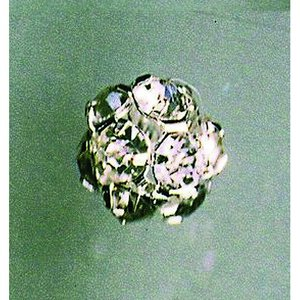 Strass boll med hål 10 mm - silver