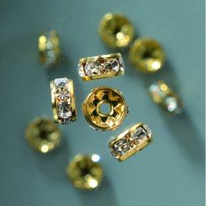 Strass cirkel 6 mm - guld