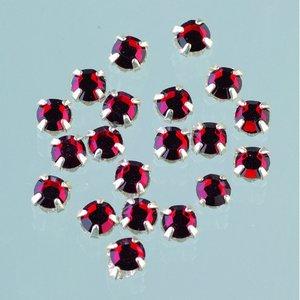 Strasstenar ø 3-5 mm - siam 20-pack fastsys