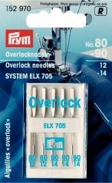 Symaskinsnålar Overlock 80-90 blandning Syst ELX705 5 st