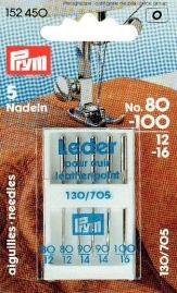 Symaskinsnålar Sys. 130/705 Läder 80-100 5 st (2 x 80