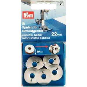 Symaskinsspole för symaskin för roterande skyttel 22 mm 5 st